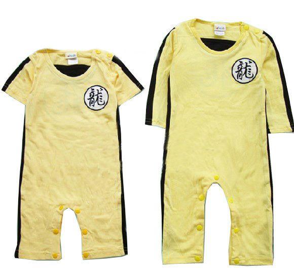 Bruce Lee Kung Fu Baby Kids Toddler Bodysuit Romper Jumpsuit One