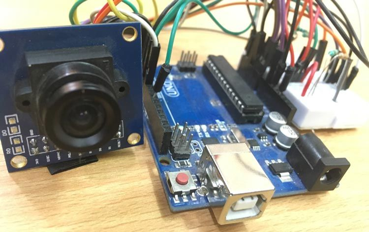 Arduino OV7670 Camera Module Interfacing circuit hardware | Arduino