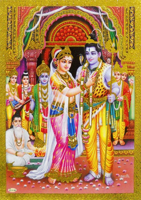 Shiva Parvati Marriage | Hindu Gods in 2019 | Lord shiva