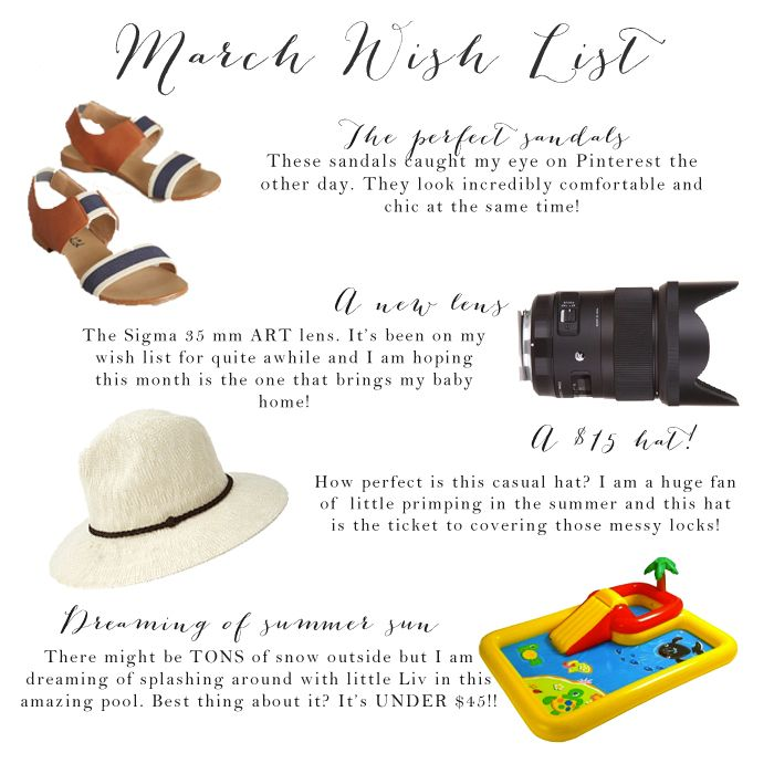 My favorite picks for March! An inflatable pool for only $42 and an amazing hat for $15!