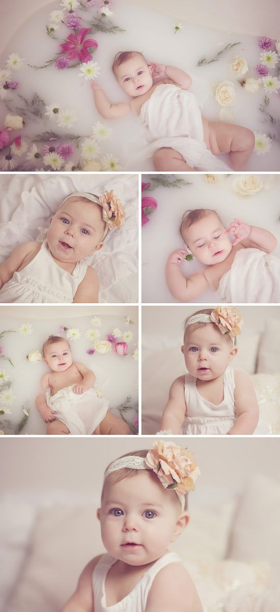 Milk Bath Baby Pictures - 6 month old baby phtoos | Child ...