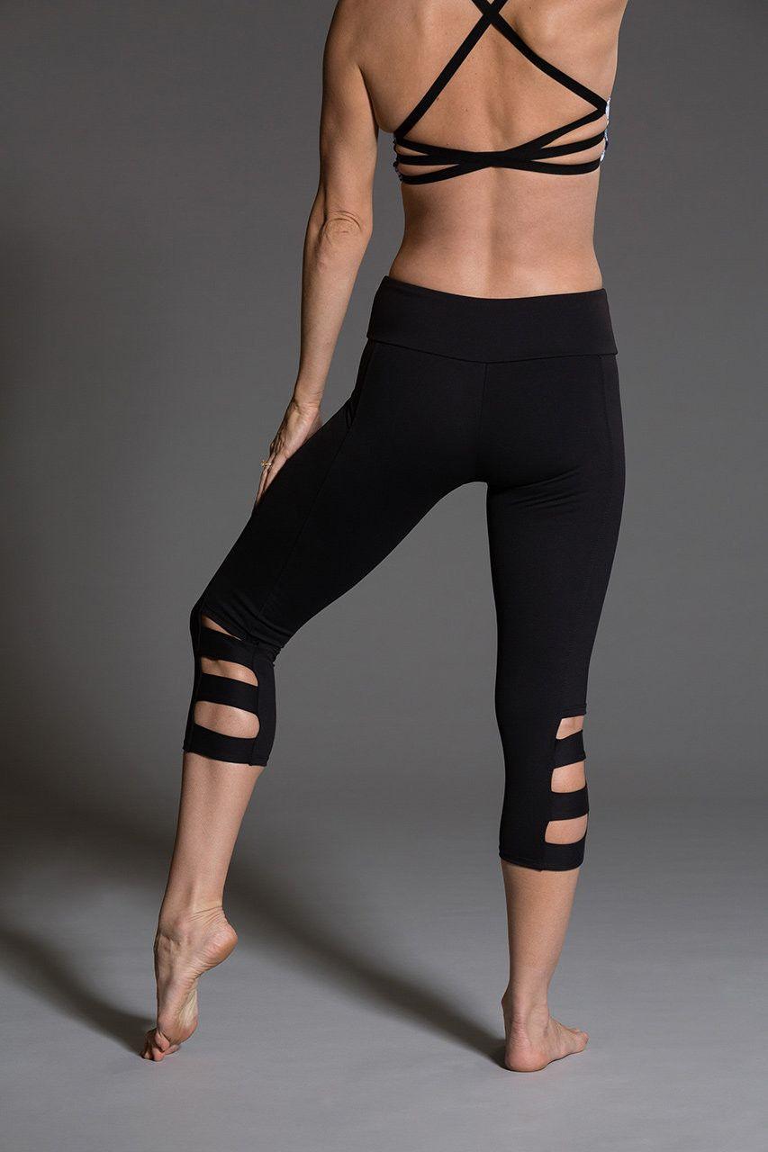 2985ea8581599 ONZIE Slit Capri - Black | W o r k O u t W e a r | Yoga capris ...
