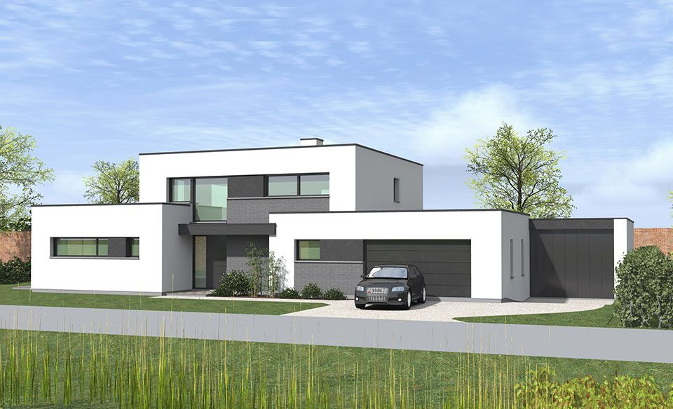 Bien-aimé Maison cubique à Toufflers | maison toit plat | Pinterest | Maison  GL33
