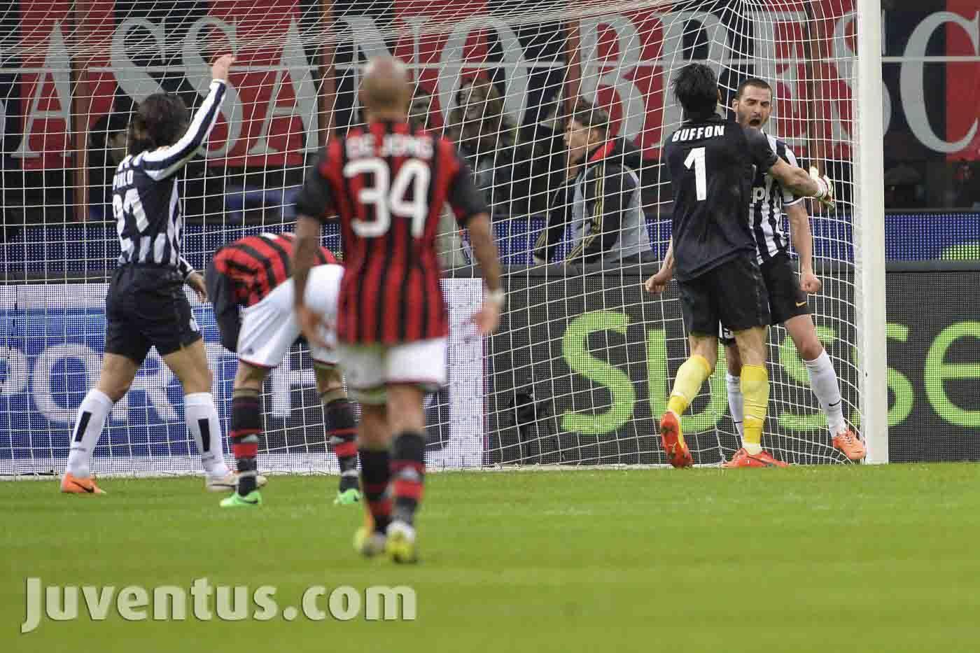 Milan vs Juventus Serie A Buffon Bonucci Juventus