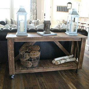 RYOBI NATION Console Table on Wheels Rolling island Entry