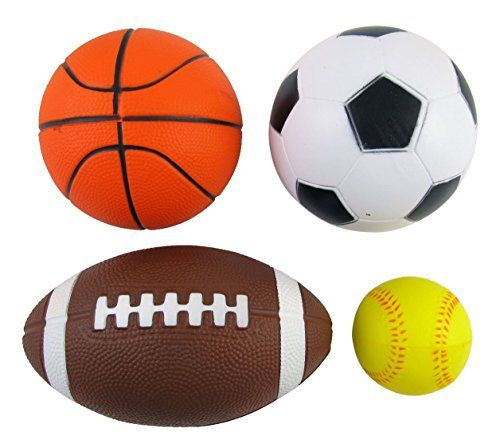 Set Of 4 Sports Balls For Kids Soccer Ball Basketball Football Tennis Ball By Bo Toys 2015 Amazon Top Rated Kickba Football Kids Kids Soccer Sports Balls