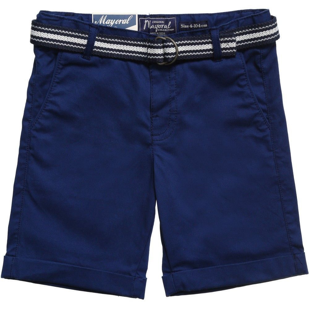 Mayoral Boys Navy Blue Shorts & Belt Set at Childrensalon.com ...