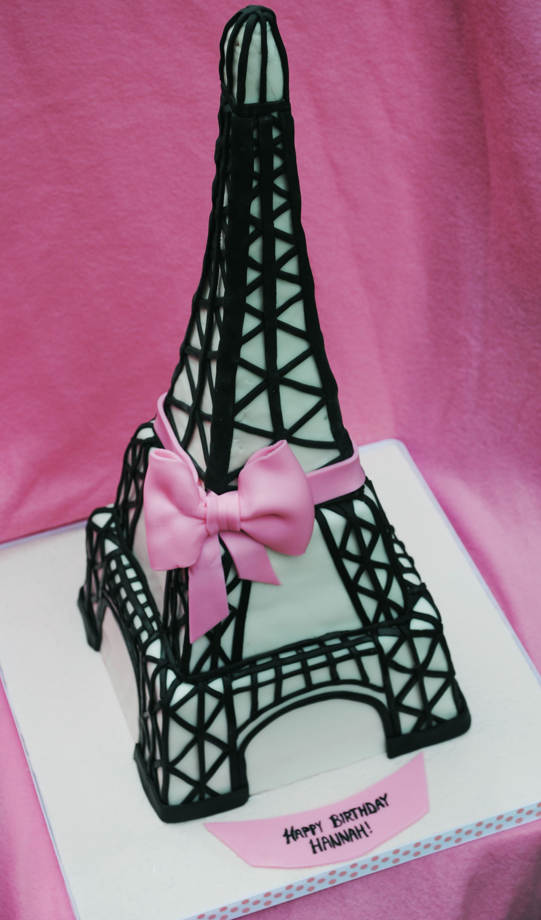 Eiffel Tower cake Spice cake with maple buttercream top tower