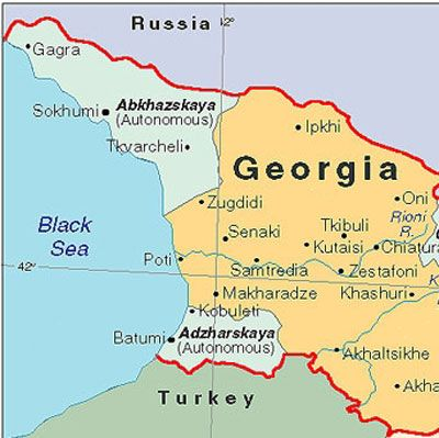 Map of Abkhazia Georgia and Adzharskaya Maps of Disputed States