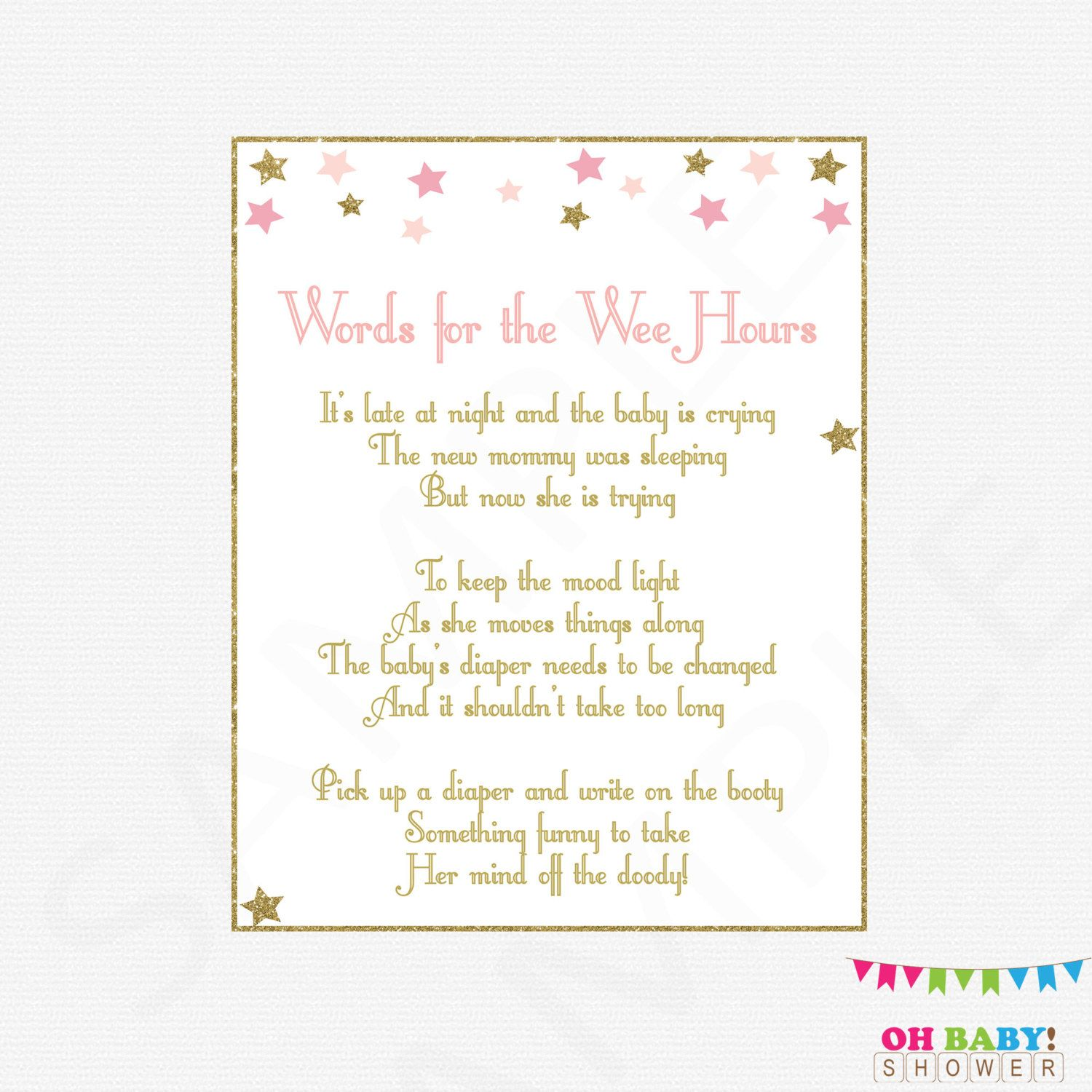 Late Night Diapers Baby Diaper Game Write A Funny Message On Etsy Baby Shower Envelopes Gold Baby Showers Baby Shower Signs