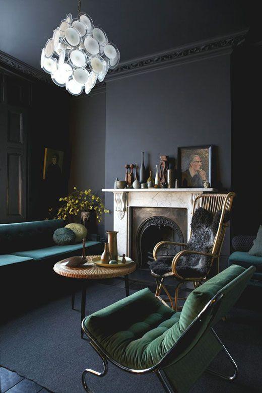 Dark Walls Inspiration Pinterest Dark walls, Dark and Walls - wohnideen wohnzimmer streichen