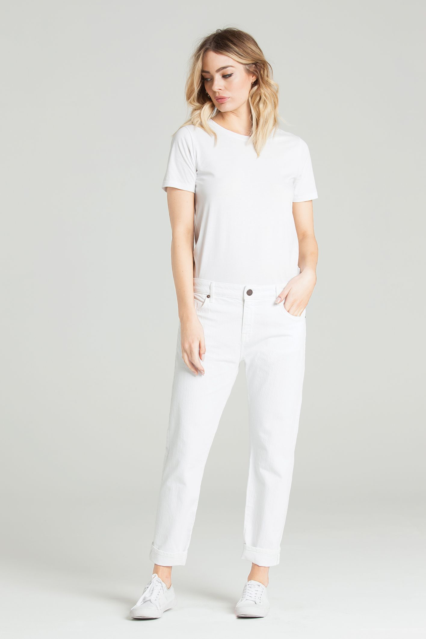Antifit straight in blanc parker smith straight jeans