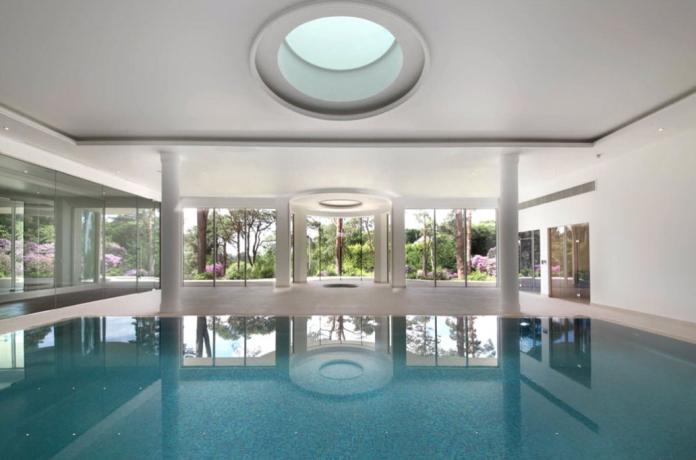 Indoor Pool Mansions Luxury House Plans Floor Plans