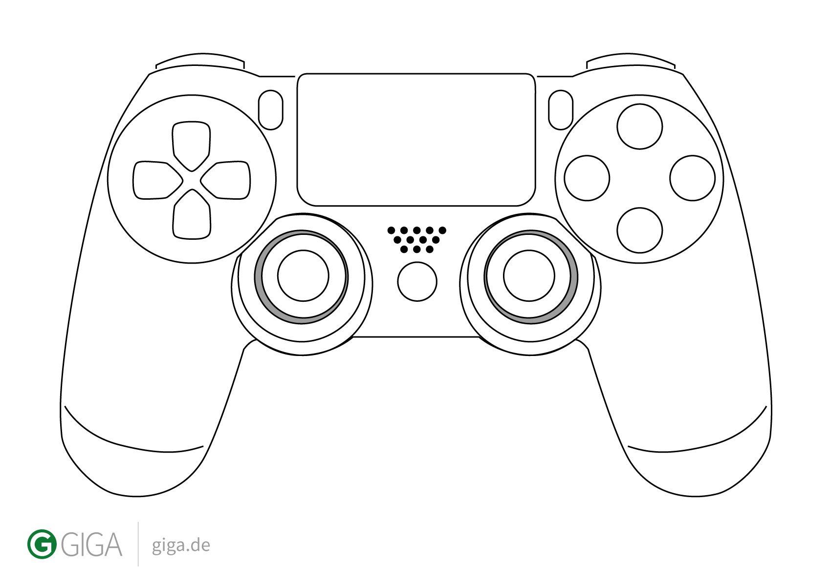 Dualshock4 Designvorlage Jpg 1 698 1 200 Pixels Controller