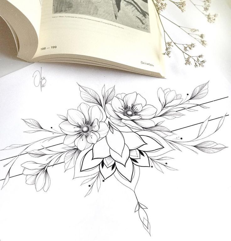"""Tattoo # 🌿 #on #Instagram: # """"Free # Bracelet # mit # Anemonen # auf # Drumstick # oder …"""