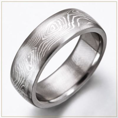 This Is The Wedding Band I Want To Get For My Fiance Gregory He Loved How Wood Grain Effect Was Manly Yet Kick Ass