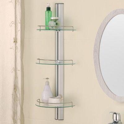 """Organize It All 11.38"""" x 30.75"""" Bathroom Shelf"""