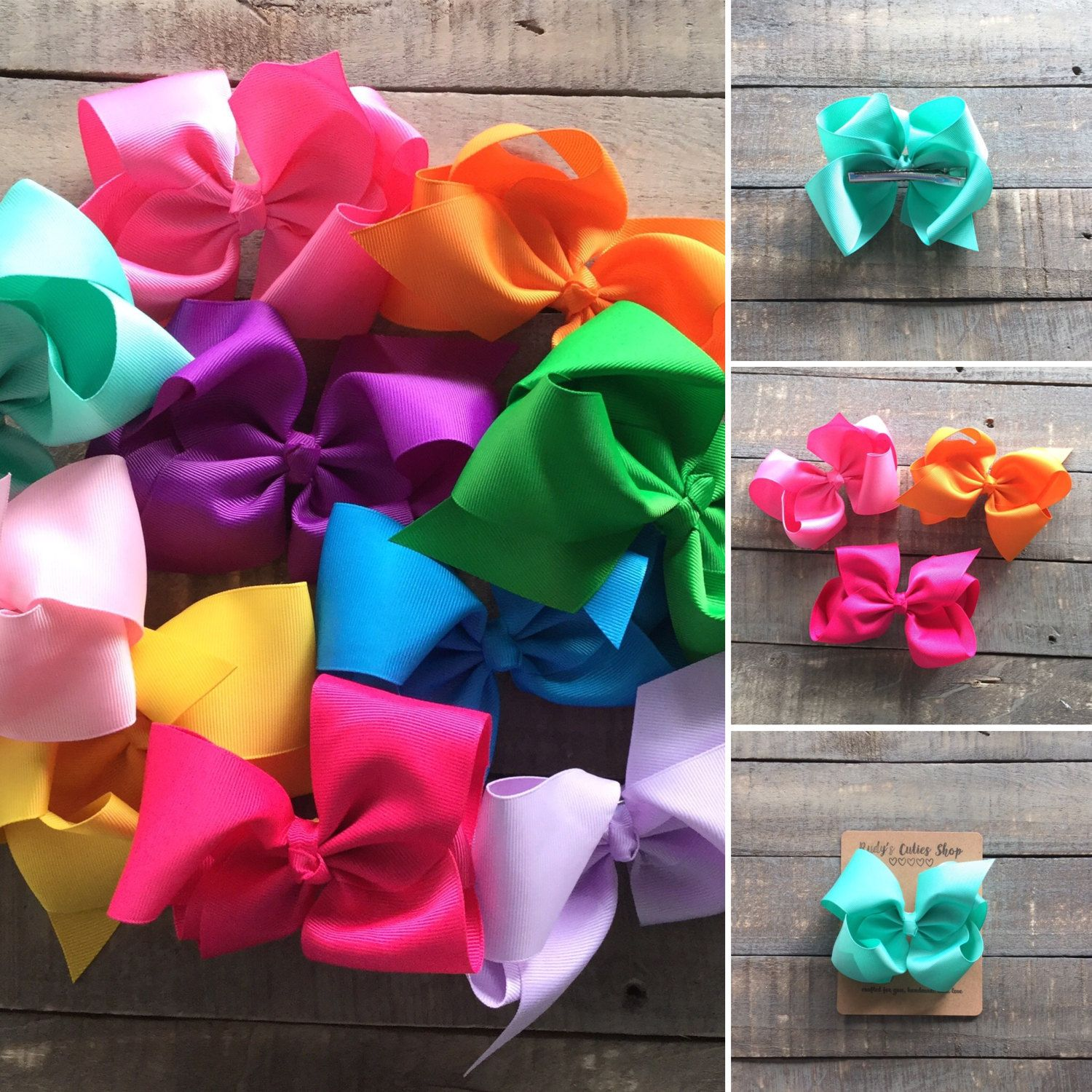 """Boutique Grosgrain 5"""" Bow Clip 