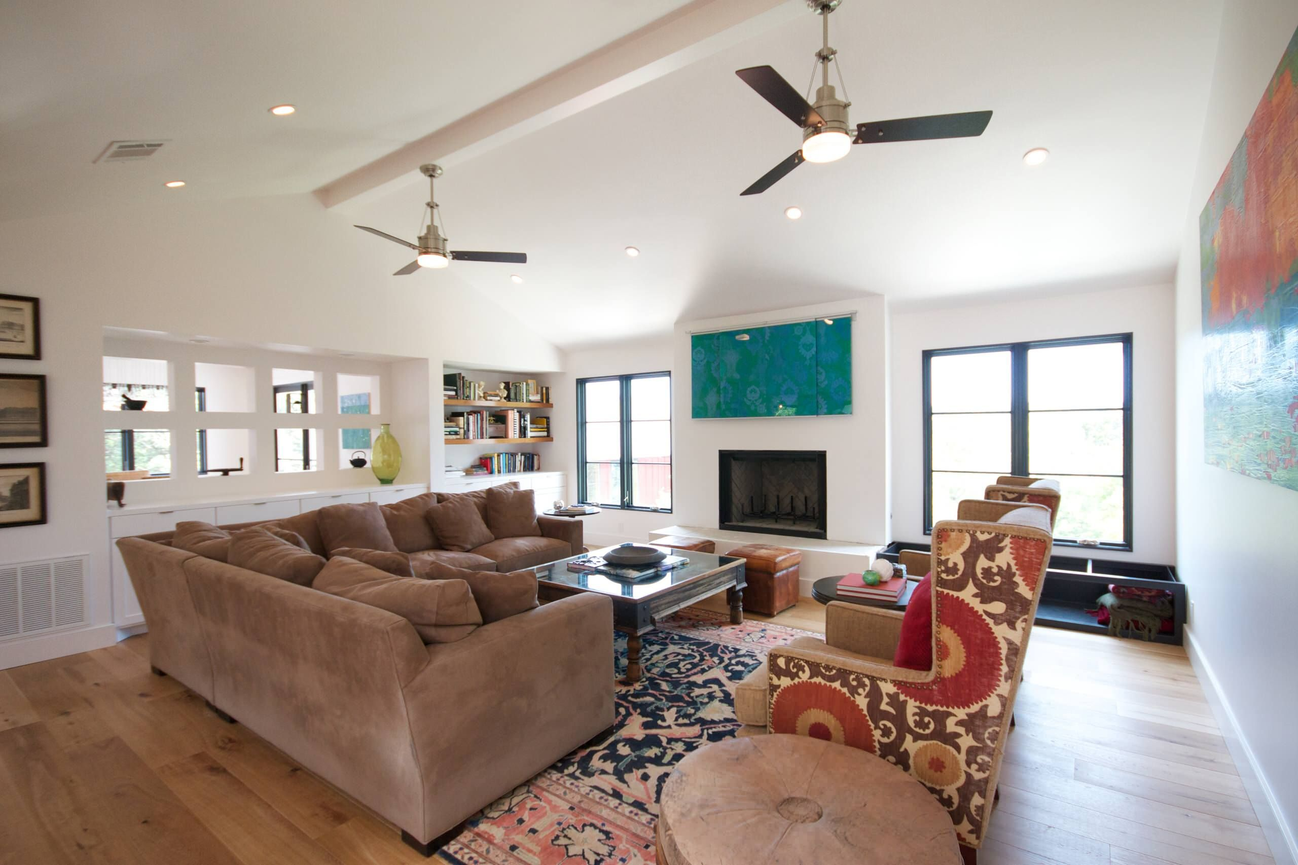 Image Result For High Ceiling Living Room With Two Fans Living