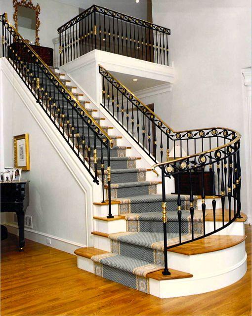 Interior Ironwork   Home stairs design, Stair design ...