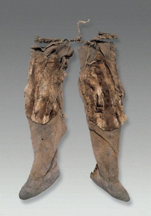 Ancient Leather Boots I Believe Ca 1500 Bce Vintage