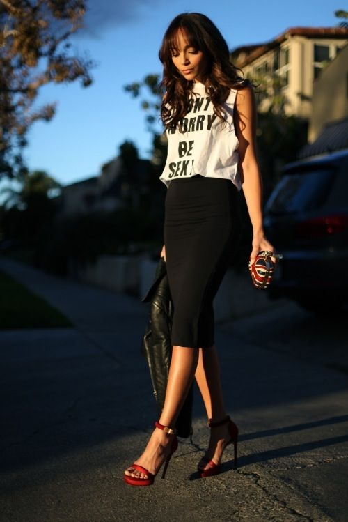 The casual pencil skirt, I need this to wear with my new crop top