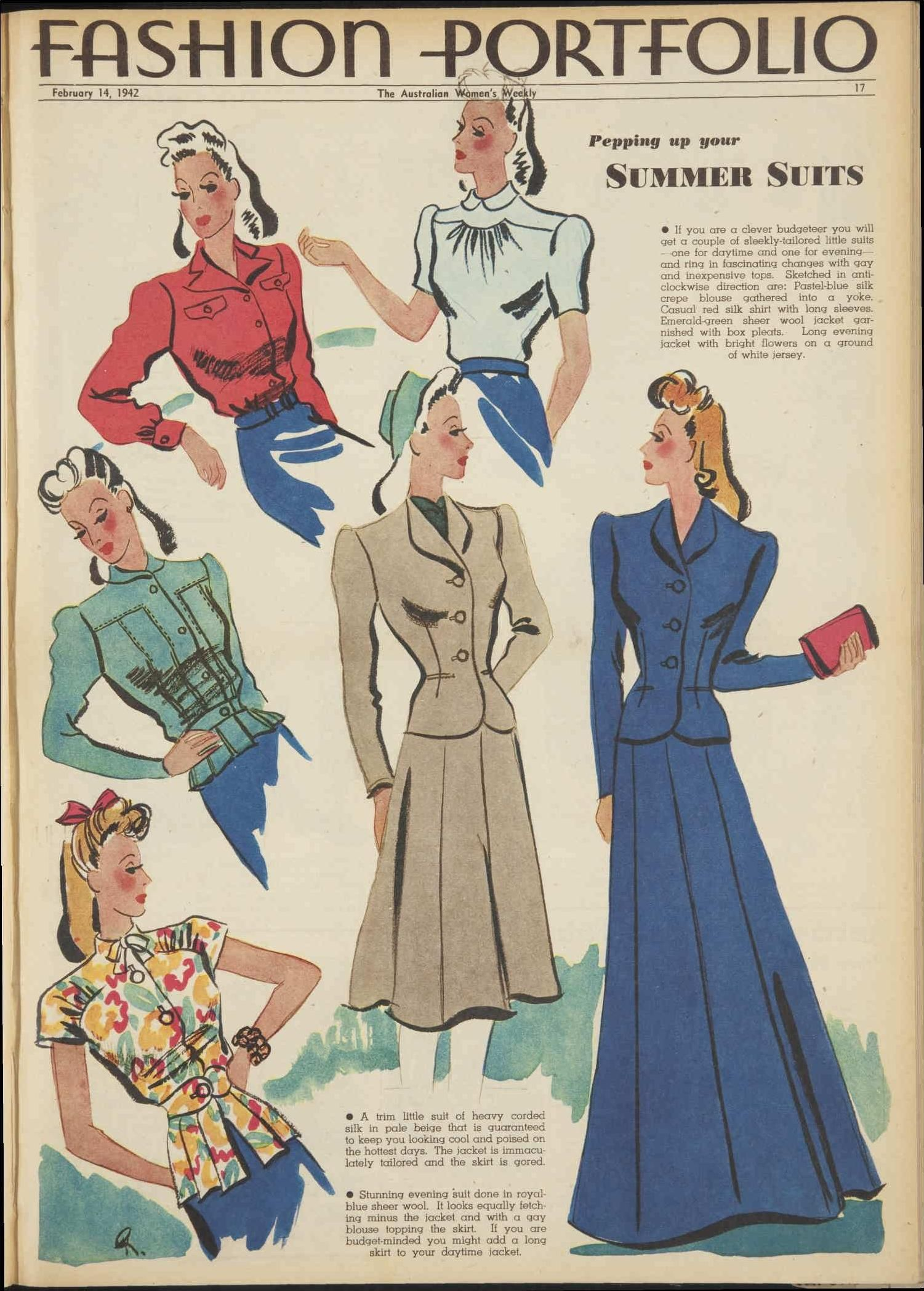 Issue 14 Feb 1942 The Australian Women S Wee In 2020 1940s Fashion Vintage Fashion Fashion