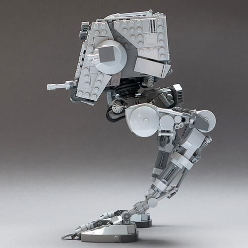 LEGO Set MOC-4931 Articulated Star Wars AT-ST v2.1 - building ...
