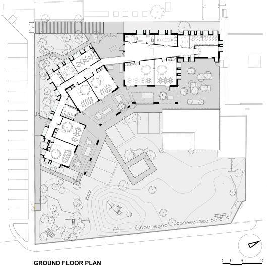 Ground floor plan school pinterest architektur - Architektur plan ...