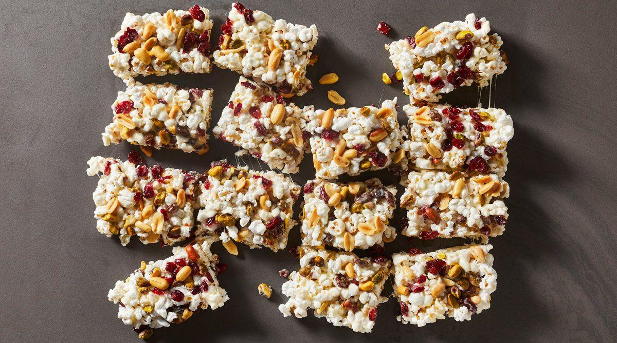 Popcorn Trail Mix Treats