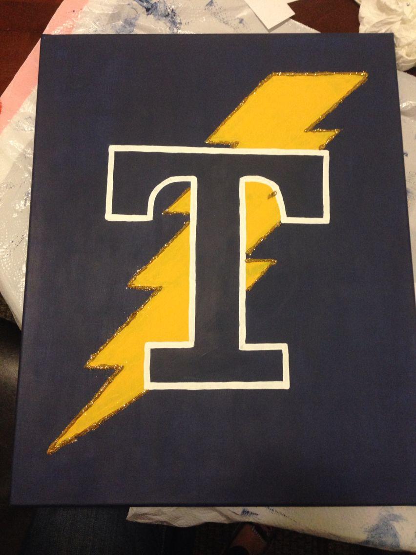 My Trine University canvas! Crafting Pinterest