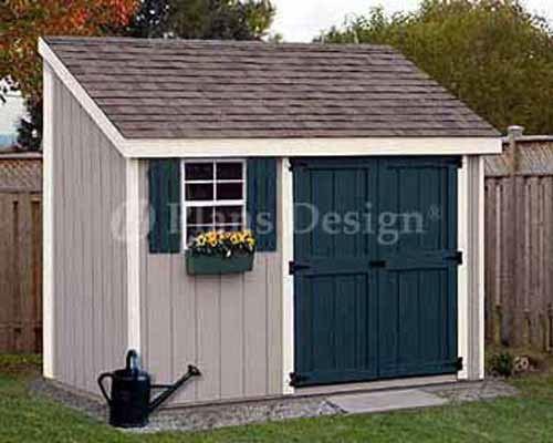 garden shed #gardencare 4 x 10 Storage Utility Garden Shed / Building Plans, Design #10410 #PlansDesign