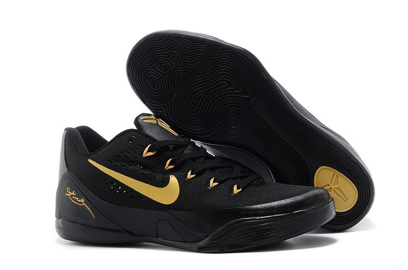 Nike Kobe 9 Low EM Black Gold For Sale Online,Discount shoes,cheap sneakers