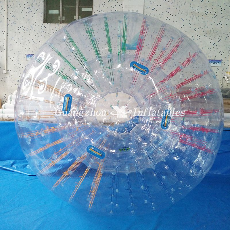 Inflatable Human Hamster Glass Roller Zorb Ball For Ramp Zorbing Inflatable Hamster Roller