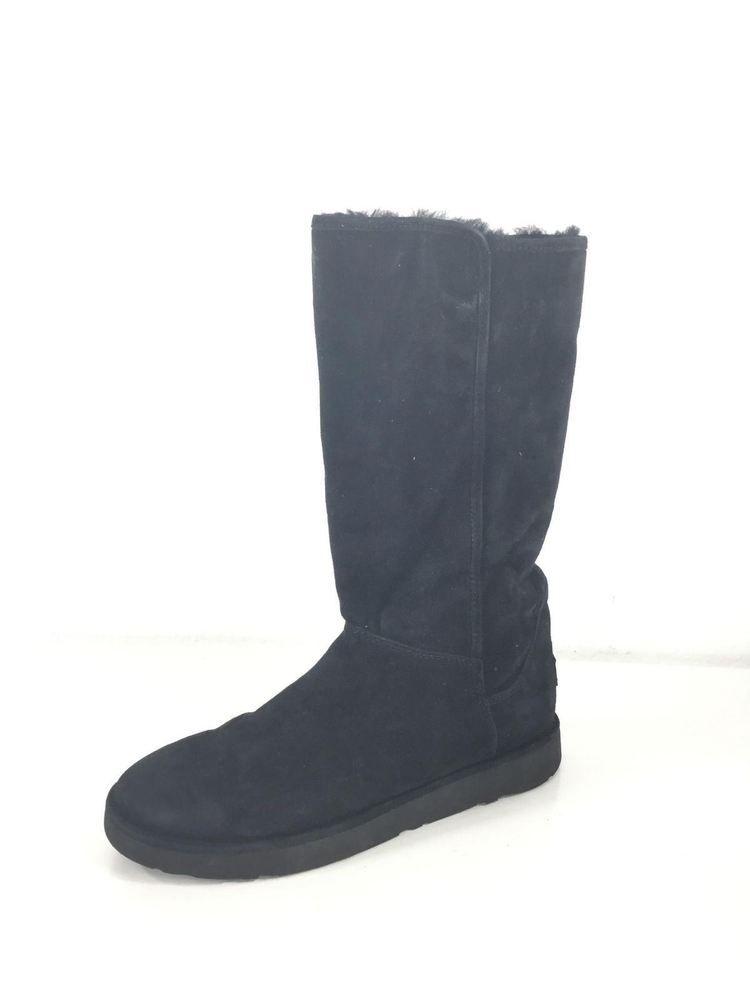df12d2af740 Q43 UGG Abree II Black Nero Suede Tall Boot Women Size 9 M #fashion ...