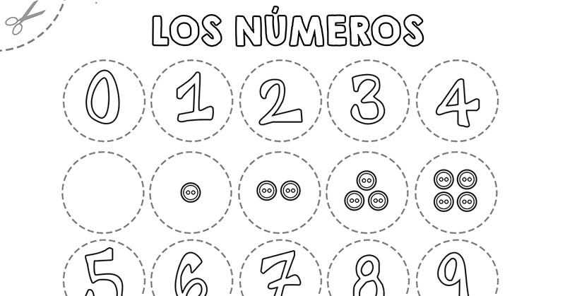 Manualidades para niños: Números para colorear Asociación de números ...