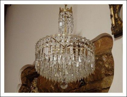 Lampadario Antico Ottone : Lampadario antico in ottone dorato restaurato antiques