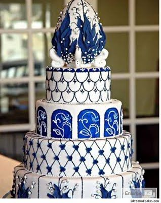 Each tier of this cake was inspired by a different Fabergé