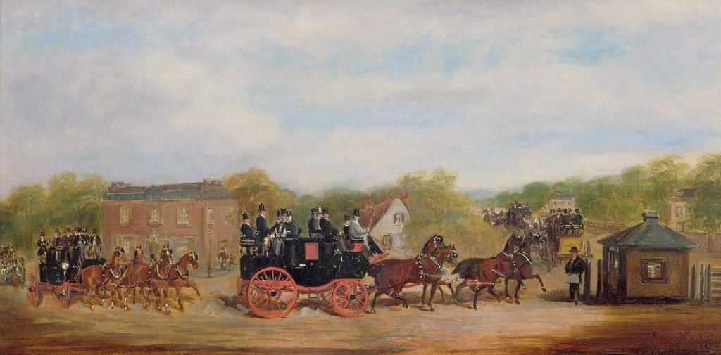 Herbert Jones *A Four-in-Hand Race at the Five Bells Tavern, New Cross*