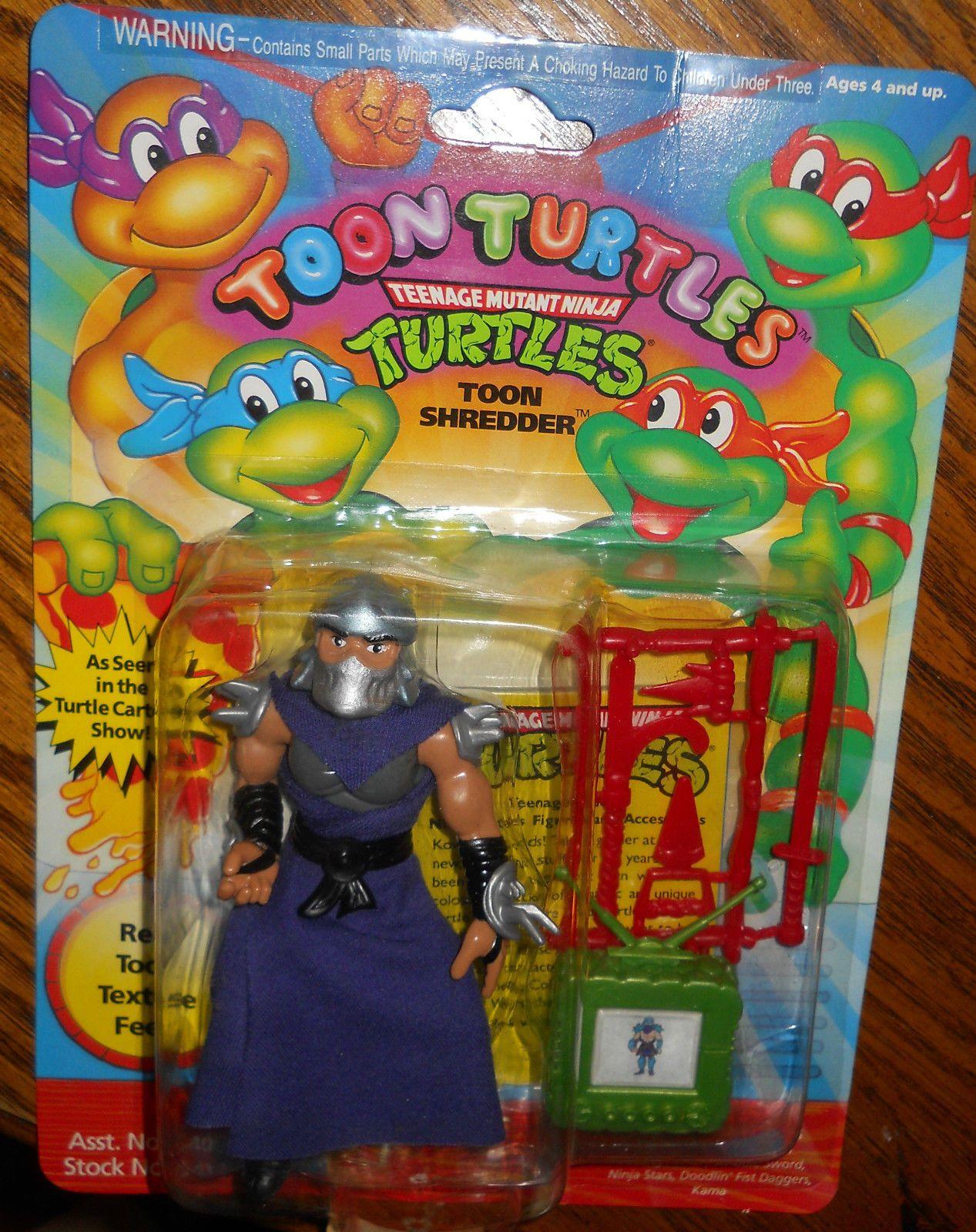 TMNT Toon Turtles Action Figure Toon Shredder NEW in Card