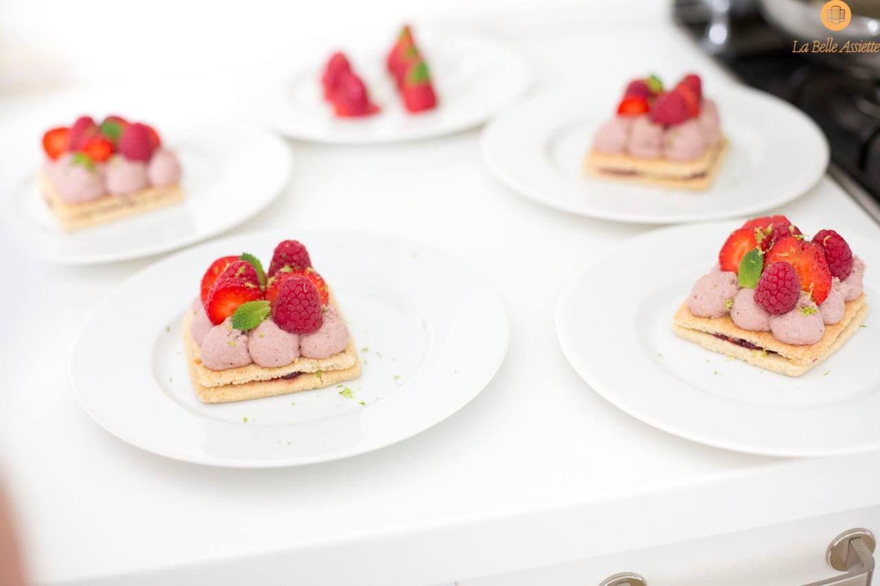 Le dessert : Douceur croquante de fruits rouges