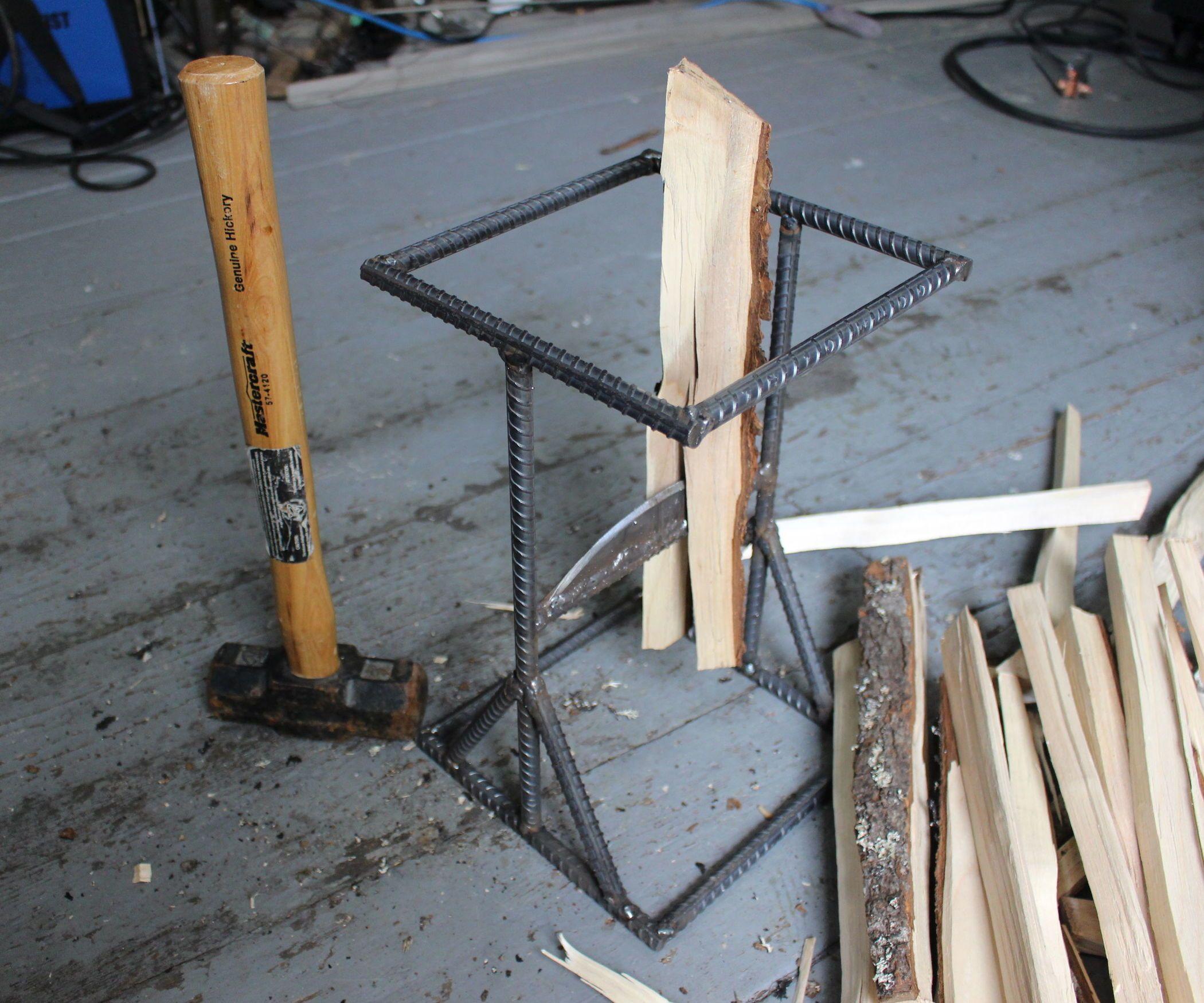 How to Make a Kindling Splitter | Metal Work | Pinterest | Axe, Log ...