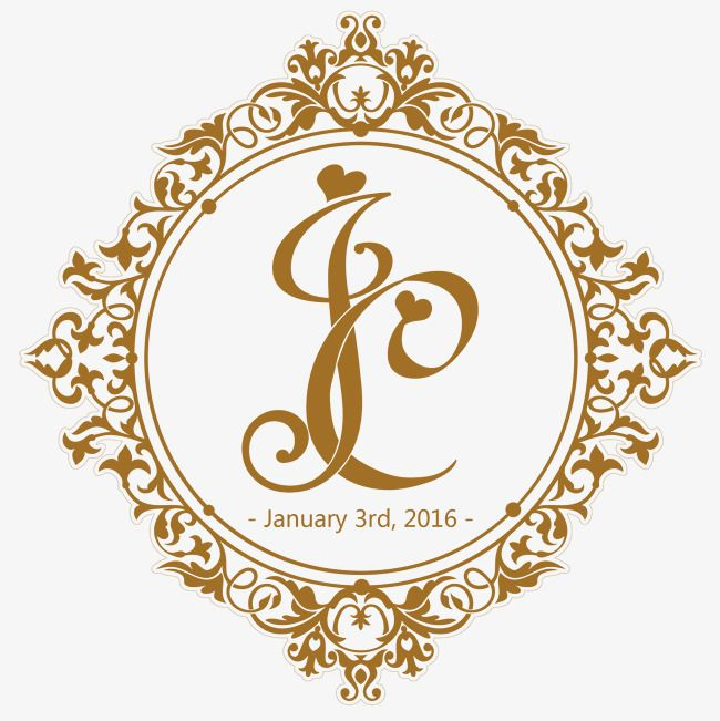 wedding logo golden logo golden letters logo european border wedding logo letters border wedding vector logo vector vintage beautiful heart