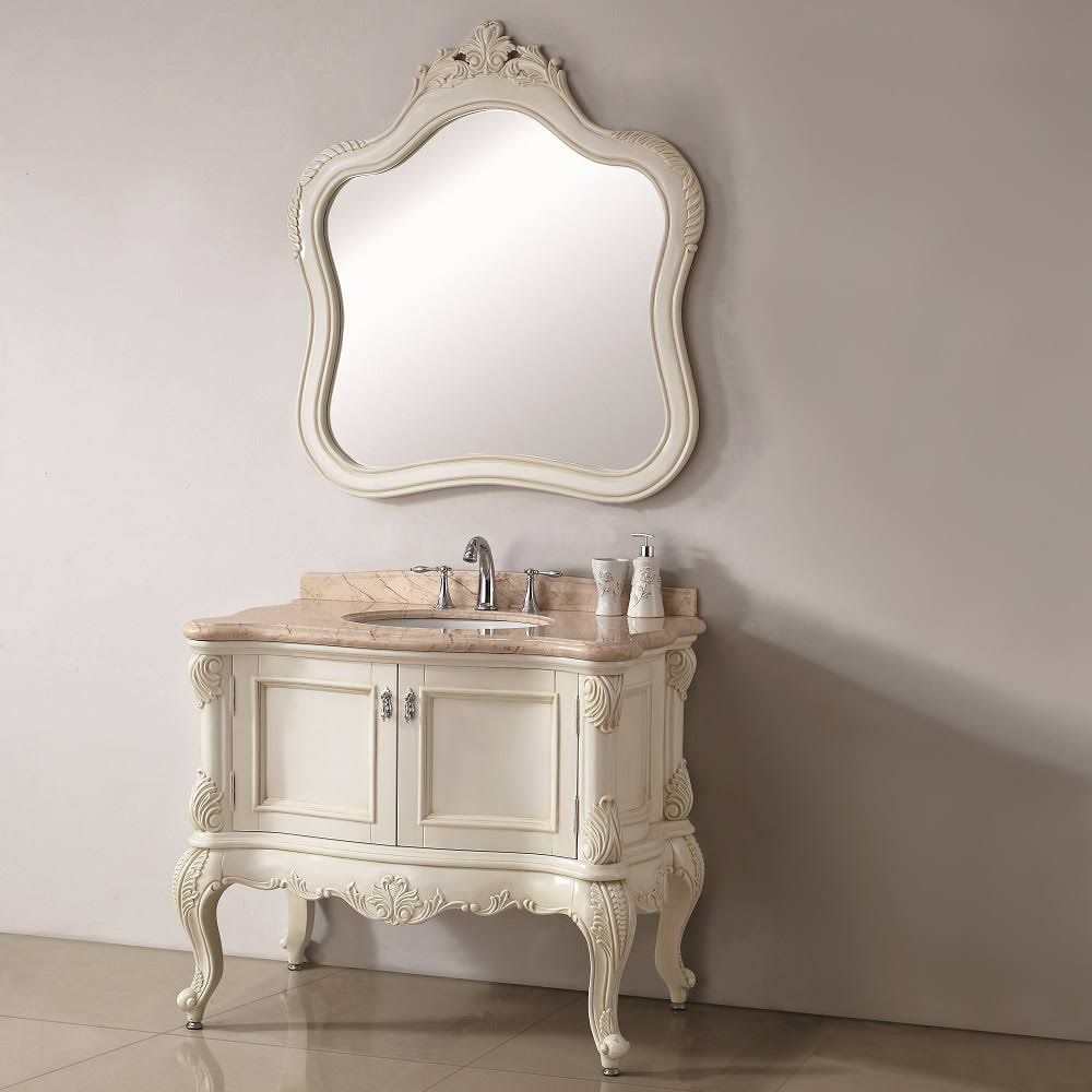 Infurniture Wb19663 Antique 40 Inch Single Sink Bathroom Vanity Extraordinary 40 Inch Bathroom Vanity Inspiration