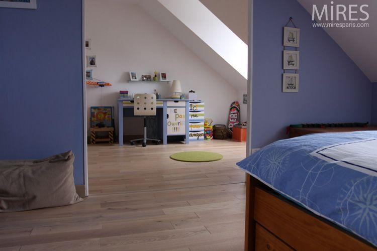 chambre couleur bleu lavande ocre et lavande c0658 mires paris id es pour la maison. Black Bedroom Furniture Sets. Home Design Ideas