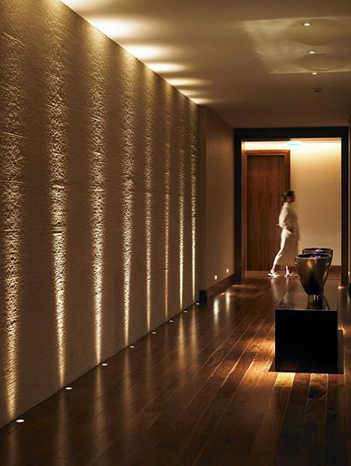 Delightful *modern Interiors, Hallway, Lighting Design*   Spa At The Gleneagles Hotel  In Scotland By Designer Amanda Rosa. This Would Be So Romantic In A Long  Hallway.