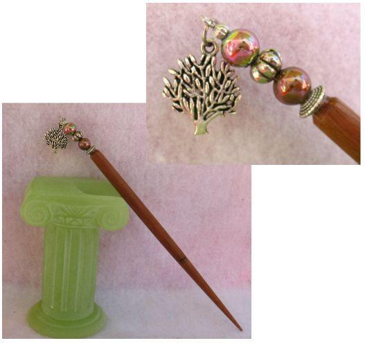 Silver Celtic Tree of Life Charm Beaded Wooden Hair Stick  http://cgi.ebay.com/ws/eBayISAPI.dll?ViewItem=151011132848