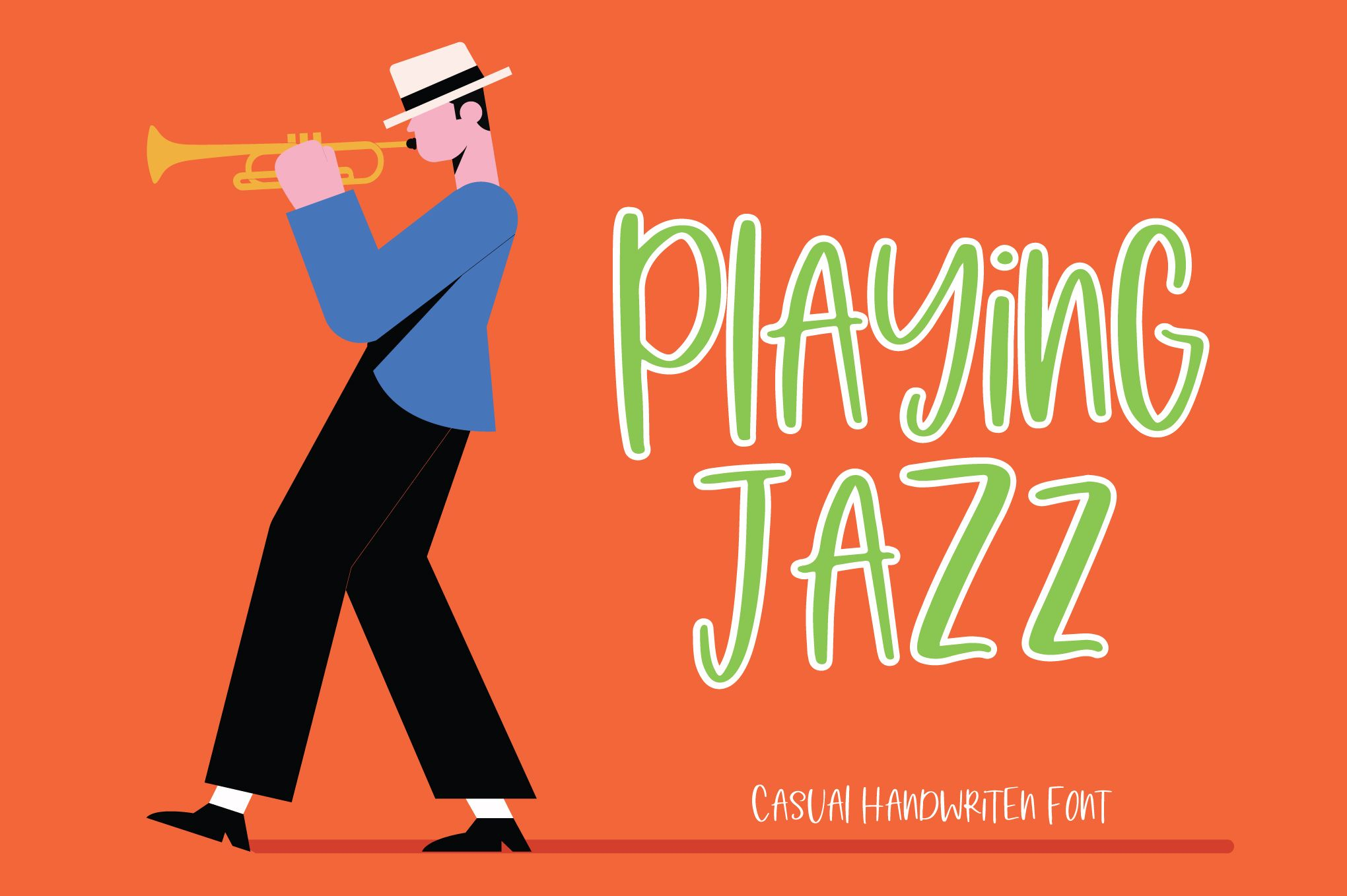 Playing Jazz (Font) by PaulaType · Creative Fabrica New