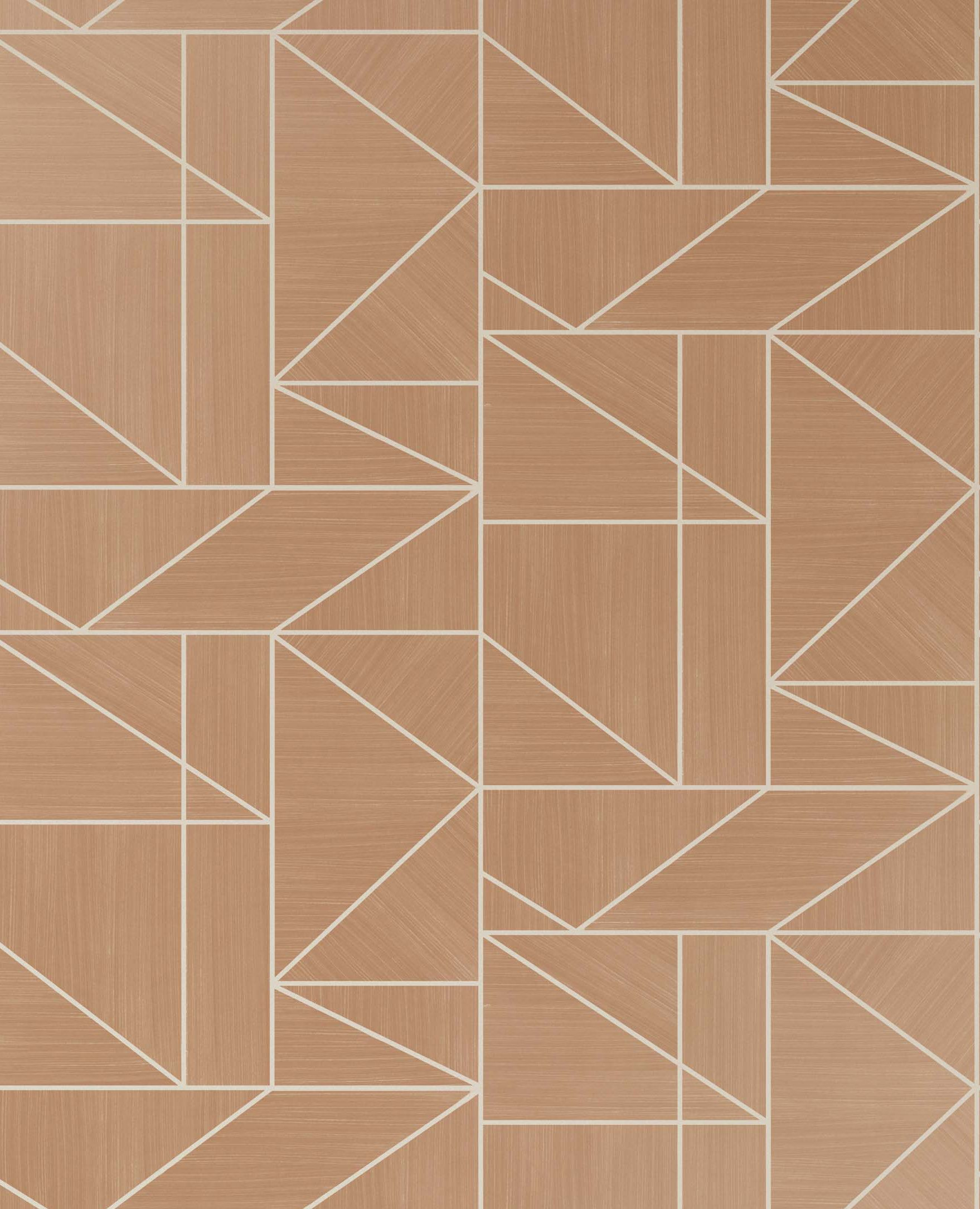 Crown Alexis Geo Vinyl Wallpaper Crown M1382 Wallpaper Rose Gold