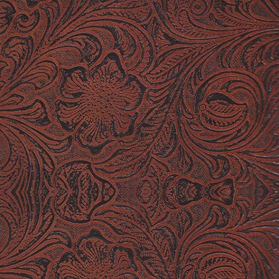 Faux Leather Fabric Upholstery Vinyl Copper Embossed